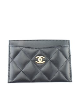 Chanel Chanel A31510 Black Quilted Leather Card Holder (164997)
