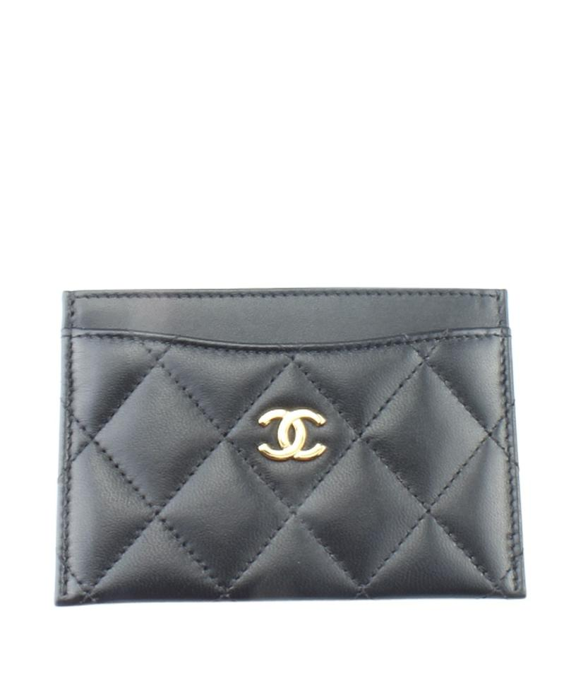 505d67cca042 Chanel Chanel A31510 Black Quilted Leather Card Holder (164997) Image 0 ...