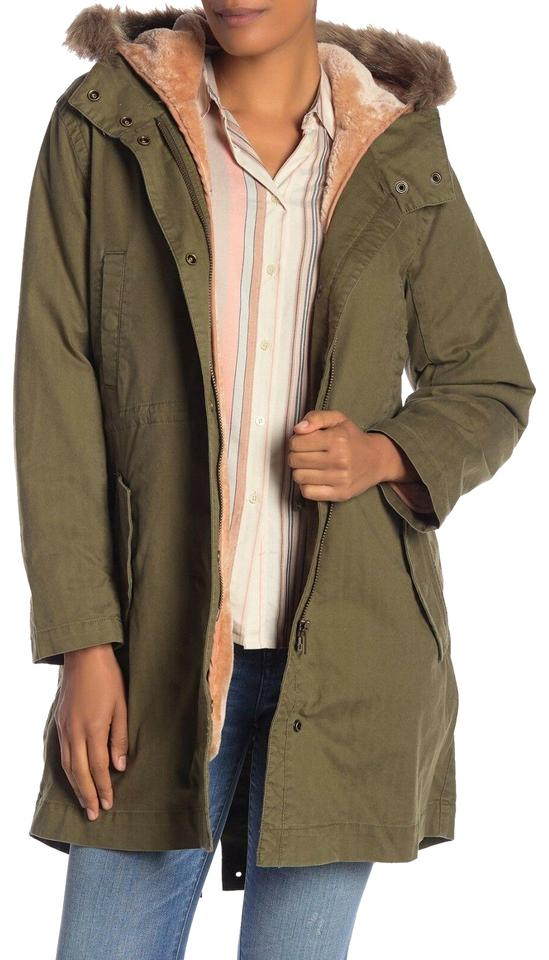 ac3e92054a407 Madewell Green Bedford Convertible Faux Fur Lined Parka Military ...