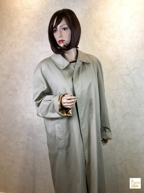 Burberry Long Trench Coat Image 1