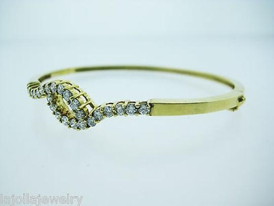 Other 14k Yellow Gold Diamond Bangle Bracelet 1.50ct Image 1
