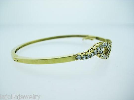 Other 14k Yellow Gold Diamond Bangle Bracelet 1.50ct Image 2
