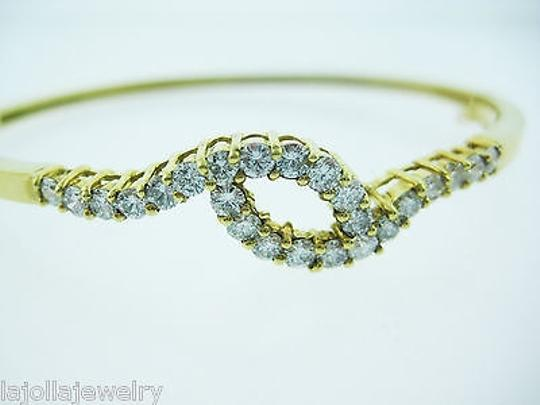 Other 14k Yellow Gold Diamond Bangle Bracelet 1.50ct Image 6