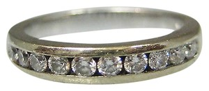 14k White Gold Diamond Band Ladies Ring Size 7.5
