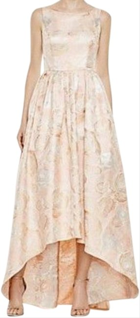 Item - Peach Gold Metallic Collection Long Formal Dress Size 2 (XS)