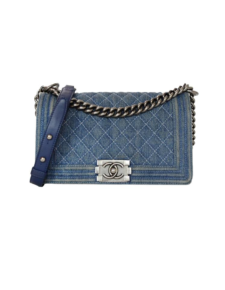 850981a081f9 Chanel Denim Distressed Denim Cc Quilted Classic Cross Body Bag Image 0 ...