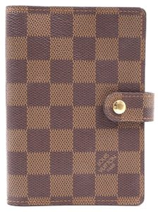 Louis Vuitton Damier 6 Ring agenda PM check book wallet holder card