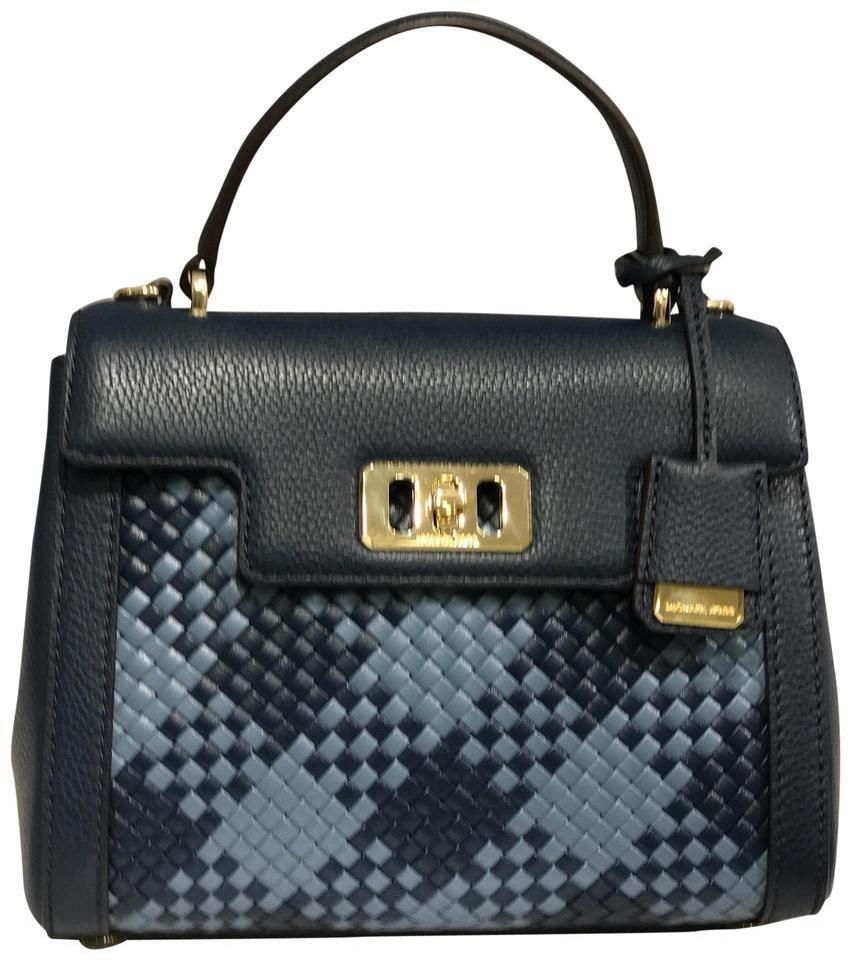 0c601903fe065c Michael Kors Karson Mini Denim/Navy Leather Satchel - Tradesy