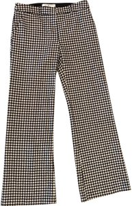 Trina Turk Relaxed Pants Black and Cream Houndstooth