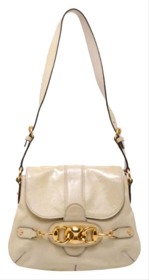 a0dc000f9c0d Gucci Ivory Patent Wave Small White Leather Shoulder Bag - Tradesy