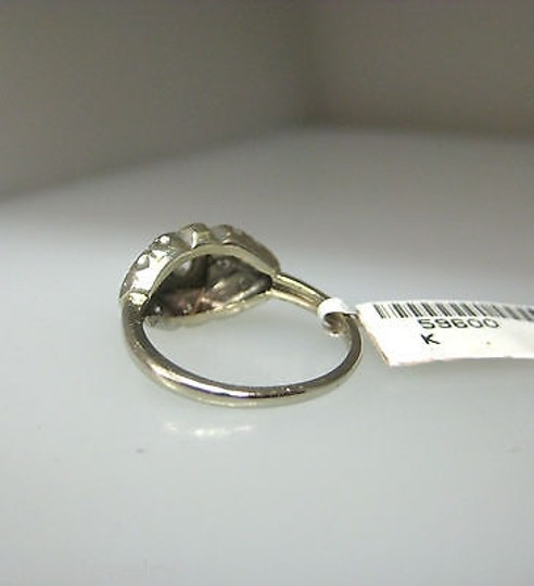 Other Antique 14k White Gold Diamonds Ladies Ring Size 5.5 Image 2