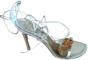 Rene Caovilla Made In Italy Fashionable Eyecatcher GOLD Sandals