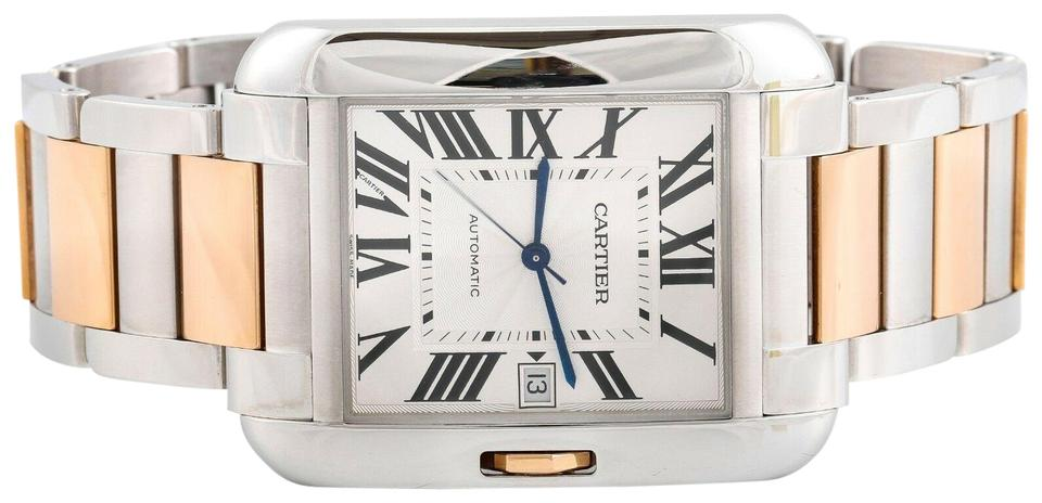 9c1775b57877 Cartier Rose Gold Tank Anglaise Xl Ref. 3507 18k Ss Two Tone 47mm Watch