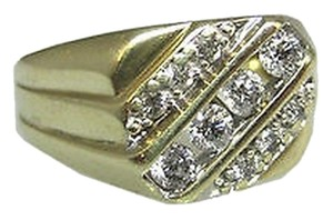 Other Fine Estate Vintage 10k Yellow Gold Diamonds Diamond Mens Ring Size 8