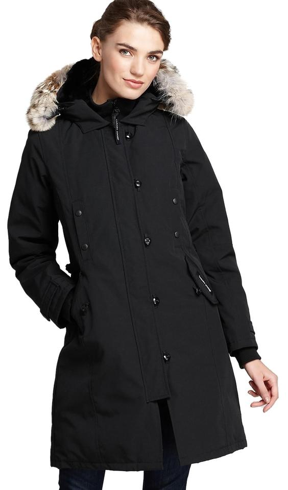 420e2aee8155 Canada Goose Black Women s Kensington Down Parka Coyote Fur Trim ...