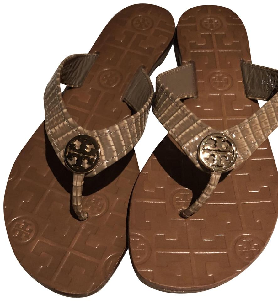 8c199cae46245 Tory Burch Brazil Nut   Gold Thora - 2 Sandals Size US 5 Regular (M ...