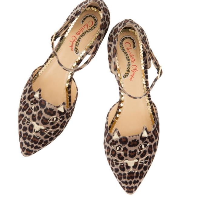 Item - Leopard and Gold Mid-century Kitty D'orsay Flats Size EU 36.5 (Approx. US 6.5) Regular (M, B)