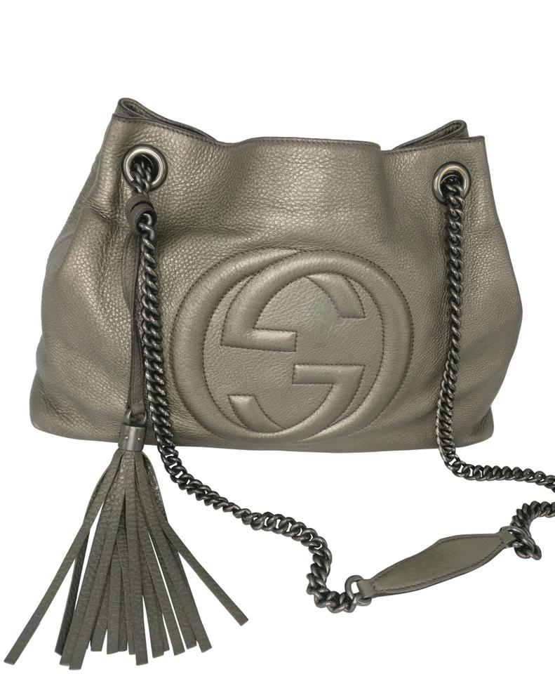 118557dd9121 Gucci Tote Soho Chain Grey Leather Cross Body Bag - Tradesy