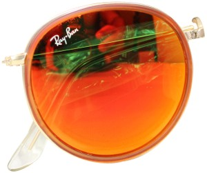 Ray-Ban Ray-ban RB3517 round folding 001/Z2 gold red flash 51-22-140