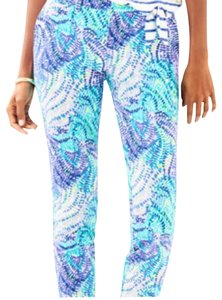 Lilly Pulitzer Straight Pants blue currant fantasea