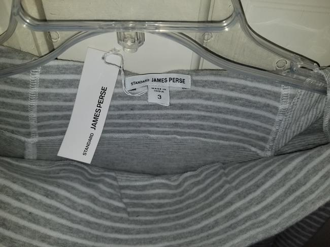 James Perse Gray and White Sweatshirt/Hoodie Size 4 (S) James Perse Gray and White Sweatshirt/Hoodie Size 4 (S) Image 3