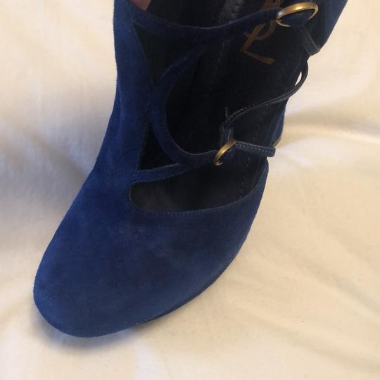 Saint Laurent royal blue Platforms Image 1