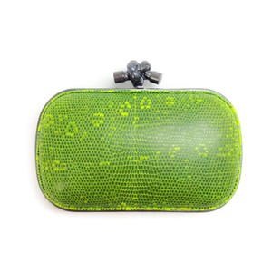 Bottega Veneta Lime Green Clutch