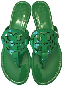 Tory Burch Patent Leather Bright Green Sandals