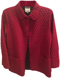 Hilary Radley Snap Closures Quilted Pea Coat