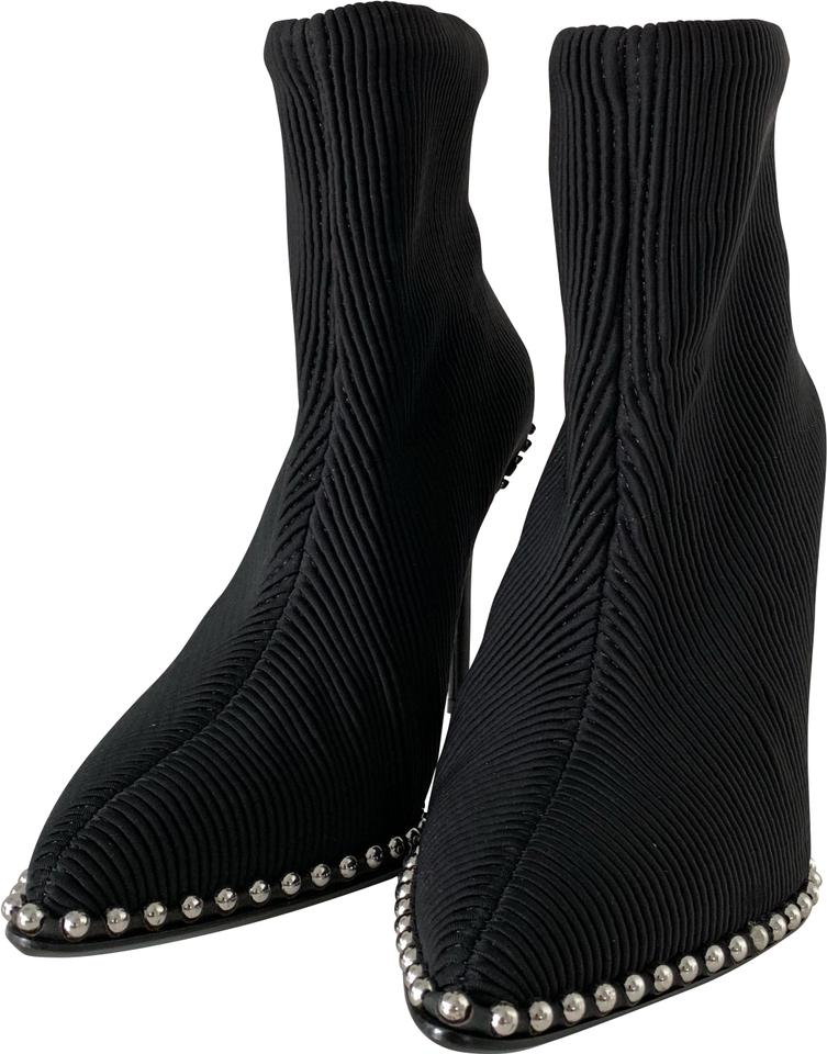 b09267efd866b Alexander Wang Black Eri Studded Sock Msrp Boots/Booties Size US 7 ...
