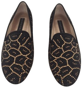 Steven by Steve Madden Black/Gold Flats