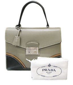 Prada Bicolor Top Handle Purse Satchel in Tricolor