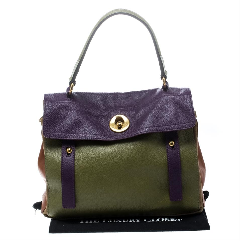 db5a0f2b0b Saint Laurent Muse Two And Suede Medium Multicolor Leather Satchel ...
