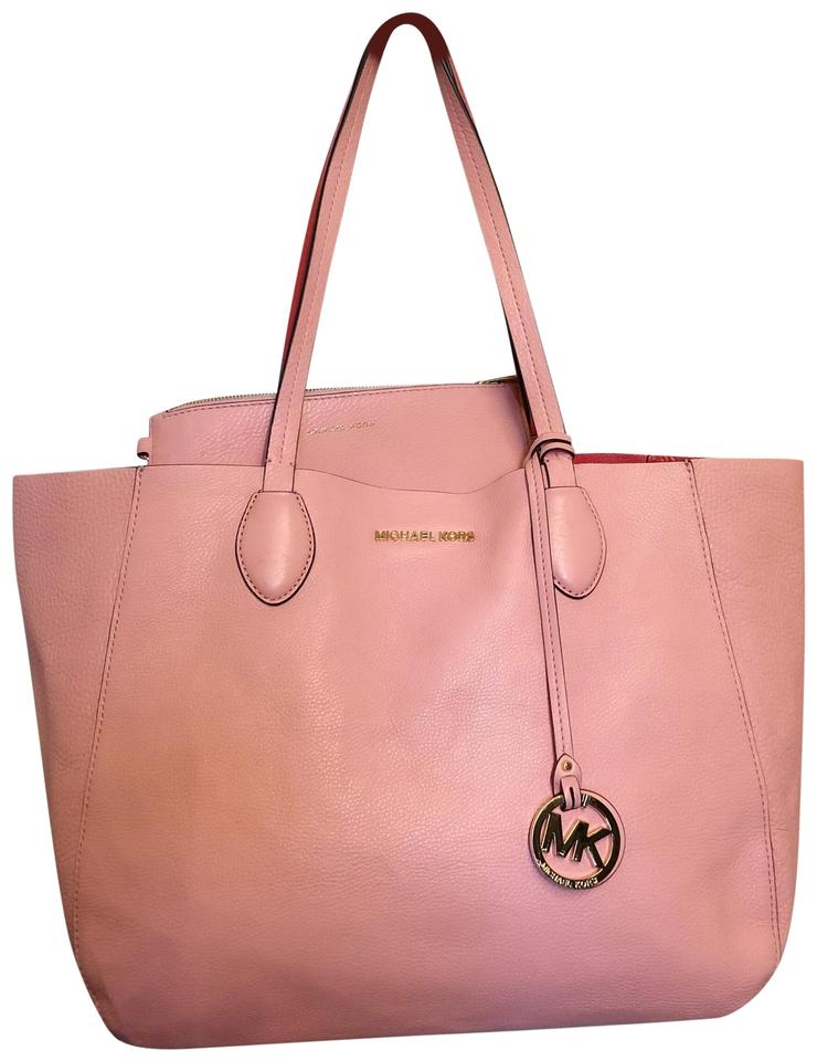 3cc80e73d942 Michael Kors Double Pink and Red Leather Tote - Tradesy
