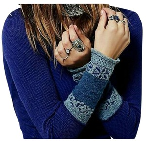 Free People Waffle Cuff Thermal Top Indigo/Purple