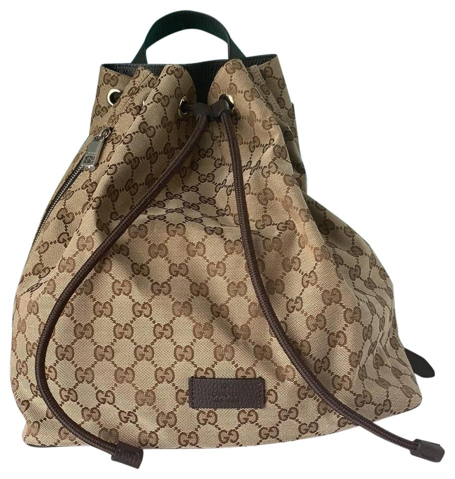 6e7dfb1456a7 Gucci Monogram Gg Side Zip Backpack - Tradesy