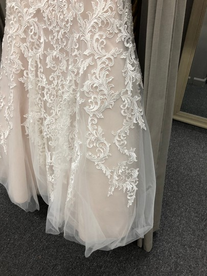 Allure Bridals Ivory/Champagne Lace 2709 By Feminine Wedding Dress Size 12 (L)