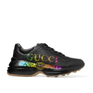 d8b3f2f9c67 Added to Shopping Bag. Gucci Athletic. Gucci Rainbow Metallic Logo Printed  Dad Sneakers ...