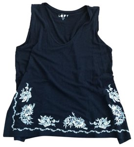 Ann Taylor LOFT Top Navy and White
