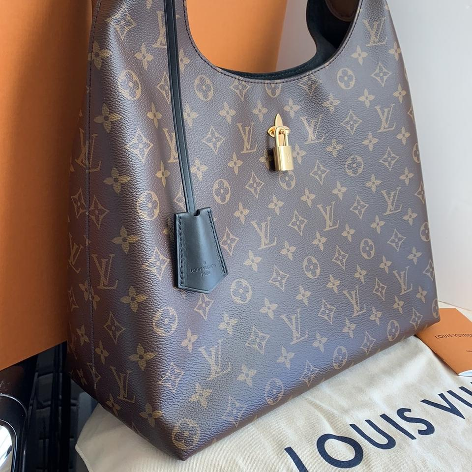 adf8182ccec Louis Vuitton Flower Monogram Leather Hobo Bag