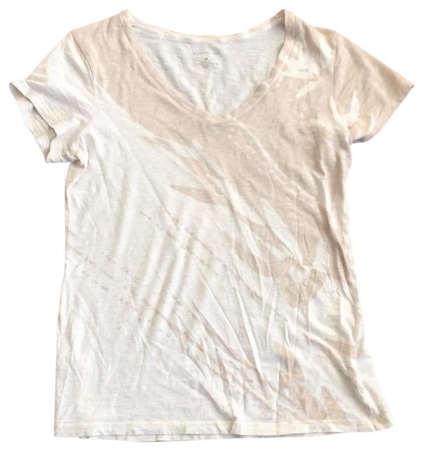 Item - Ivory and Beige V Neck Tee Tunic Size 8 (M)