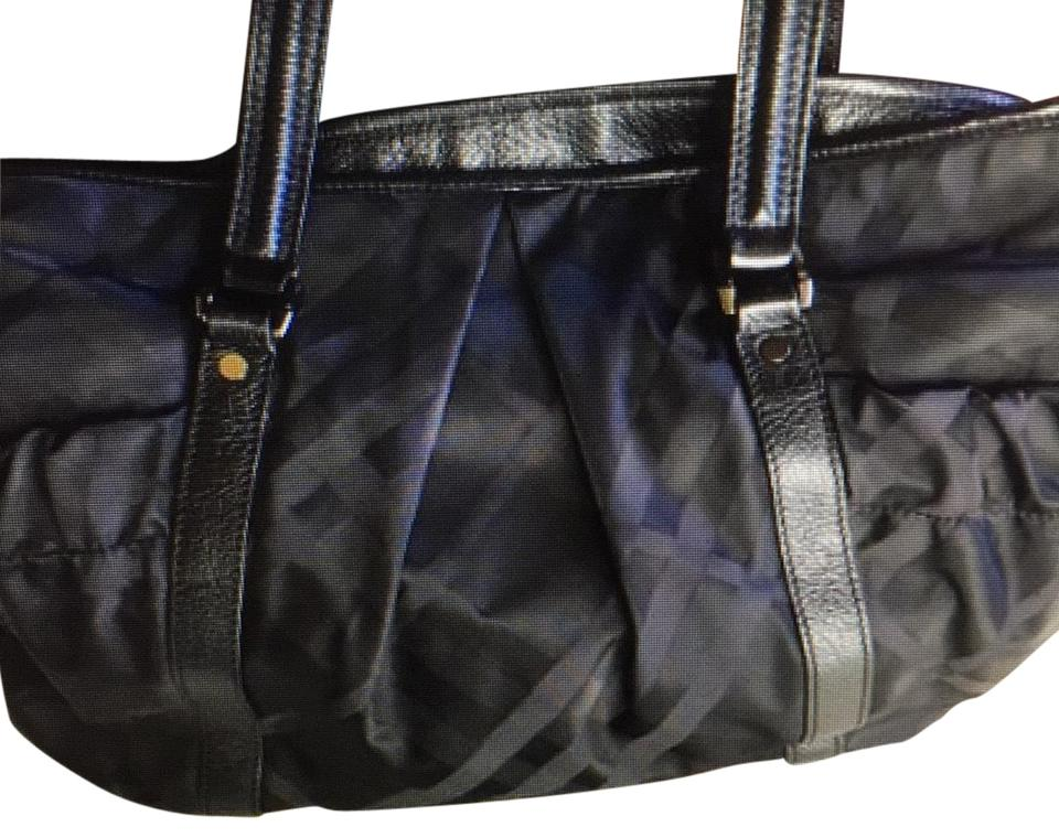 a825b652d64 Burberry Tonal Check Black Canvas and Leather Diaper Bag - Tradesy
