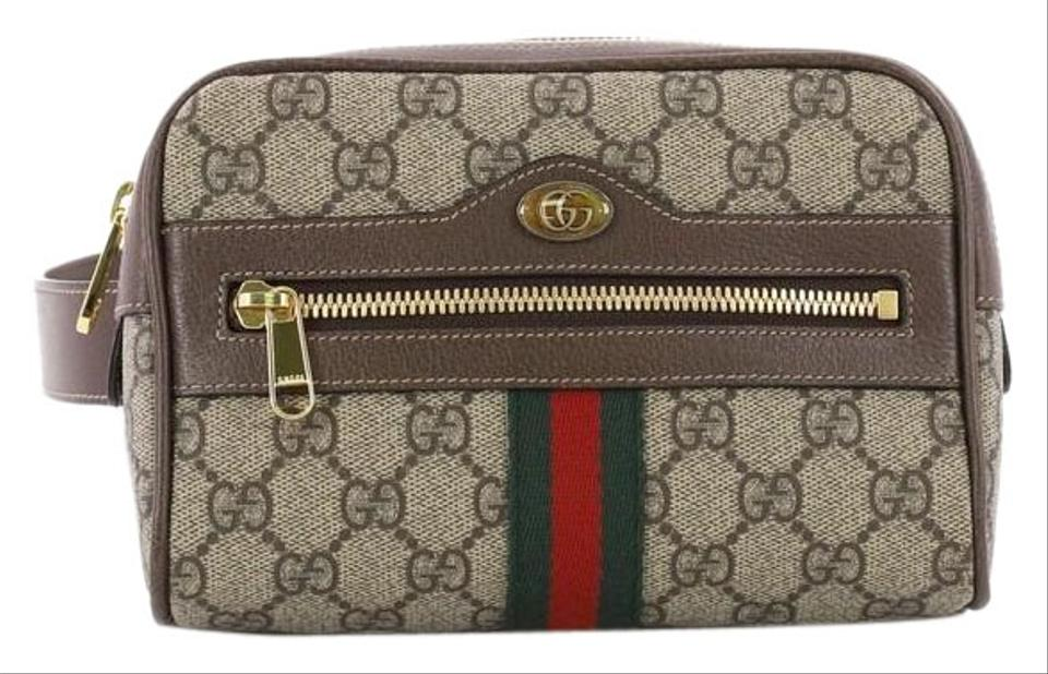 06f1f89e1 Gucci Ophidia Belt Gg Coated Small Brown Canvas Shoulder Bag - Tradesy