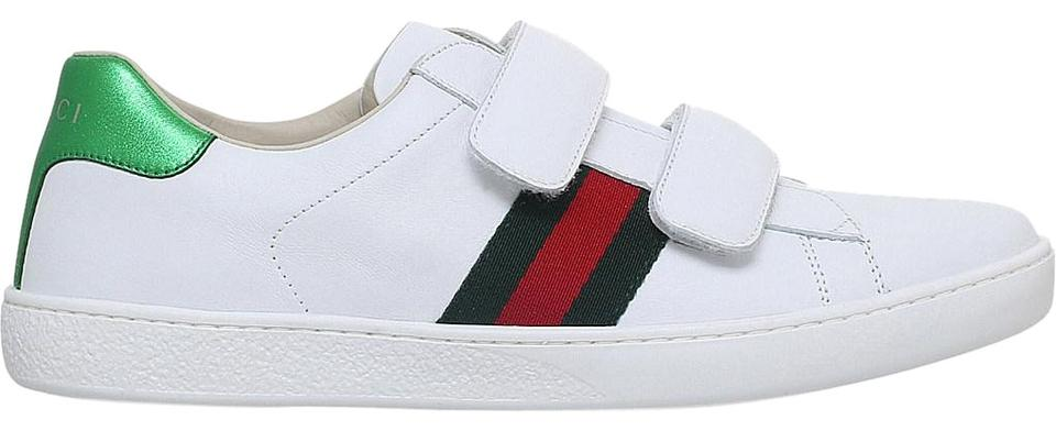 d04e2fdb8 Gucci White New Ace Vl Leather Trainers Sneakers Size EU 38 (Approx ...