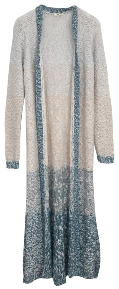 88aebbb4dc0d3 Anthropologie Blue Blush Pink Moth Ombre Loopstitch Duster Cardigan ...