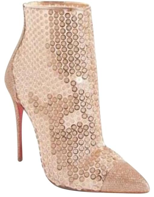 Item - Nude Gipsybootie Gipsy 100 Sequin Ankle Heels Boots/Booties Size EU 38.5 (Approx. US 8.5) Regular (M, B)