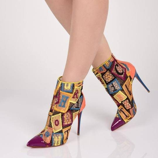 Christian Louboutin Heels Lace Gipsy Alpha Multi Boots Image 11
