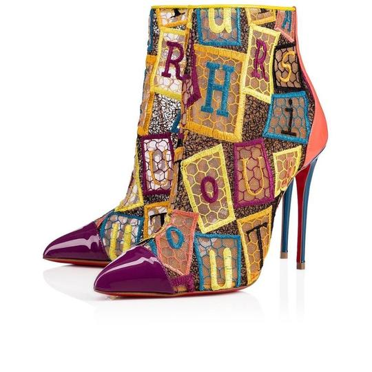 Christian Louboutin Heels Lace Gipsy Alpha Multi Boots Image 1