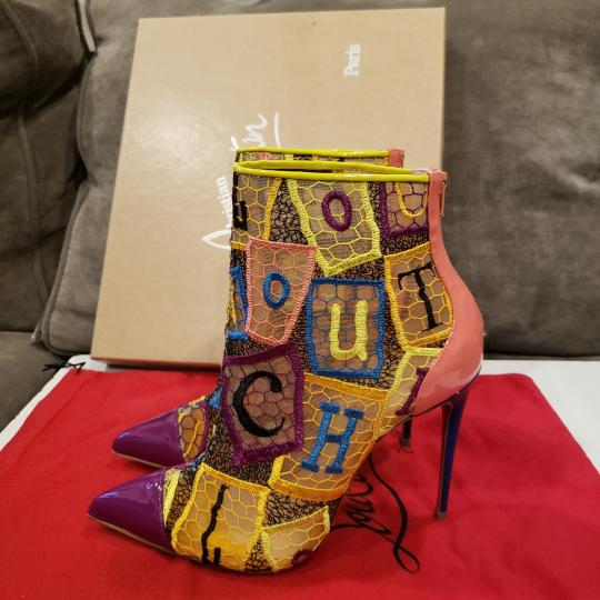 Christian Louboutin Heels Lace Gipsy Alpha Multi Boots Image 4