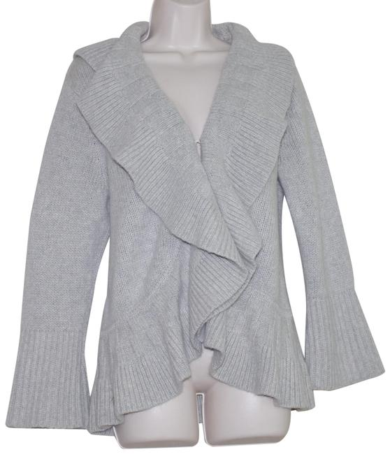 Preload https://img-static.tradesy.com/item/24751726/lord-and-taylor-gray-ruffled-hem-wool-cashmere-blend-heavy-cardigan-size-10-m-0-1-650-650.jpg